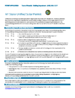 Permit for Solar Installations