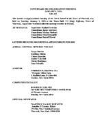 January 2, 2019 Town Board Reorganizational Meeting