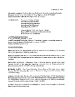 February 14, 2019 Town Board Meeting