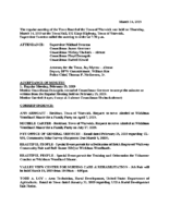 March 14, 2019 Town Board Meeting