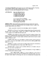 April 11, 2019 Town Board Meeting
