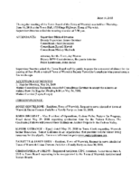 June 14, 2018 Town Board Meeting
