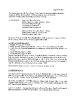 August 23, 2018 Town Board Meeting