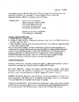 September 10, 2018 Town Board Meeting