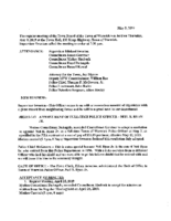 May 9, 2019 Town Board Meeting