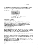 June 13, 2019 Town Board Meeting