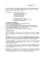 September 26, 2019 Town Board Meeting