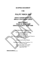 Draft Scoping Document for Pulpit Rock Inn 10.16.19