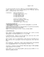 August 13, 2020 Town Board Meeting