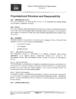 Organization and Structure Policy