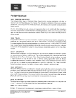Police Dept Policy Manual