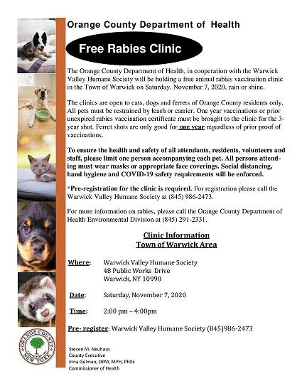 Rabies Clinic Nov 2020