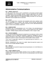 Administrative Communications Policy 205