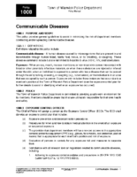 Communicable Diseases Policy 1008