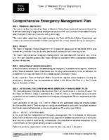 Comprehensive Emergency Management Plan Policy 202