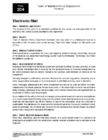 Electronic Mail Policy 204