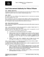 Law Enforcement Authority Policy 100