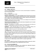 Vehicle Pursuits Policy 307
